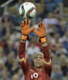 France's keeper Sarah Bouhaddi makes a save against South Korea during second half FIFA Women's World Cup soccer action Sunday, June 21, 2015, in Montreal, Canada. (Paul Chiasson/The Canadian Press via AP) MANDATORY CREDIT ▼21Jun2015AP|French women beat South Korea 3-0 in World Cup round of 16 http://bigstory.ap.org/article/9b2285867e584365babc34fc9d425e6a #2015_FIFA_Womens_World_Cup #Round_of_16_France_vs_South_Korea