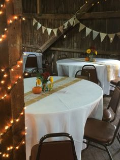 Sweet 16 Birthday Table Setting Tohickon Campground Barn