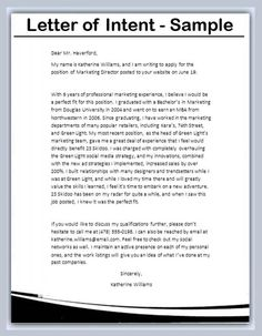 Loi Template Endearing Letter Of Intent To Purchase  Template  Pinterest