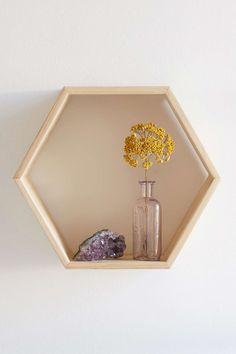 Honeycomb Wood Shelf