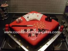 Magicians Cake: This magicians cake was made for my boyfriend's 30th Birthday. The sponge cake was made by my friend Valerie and was filled with butter cream and jam.