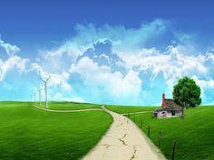 Gotta love blue skies and green grass.