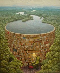 Sometimes you need books to be a wall holding back the stress of the world. This picture is gorgeous.
