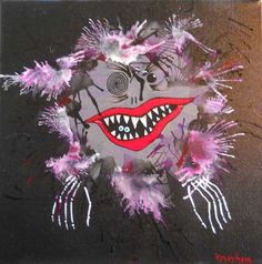Here's a unique painting from my favorite Ant Lady -- Kim :) She runs the Ant Farm Studio! Sharing the luv and passing it on! Check her out at Artfire ~ Here's the direct link to this item : Blitz Monstah original painting | AntFarmStudio - Painting on ArtFire http://bit.ly/wVdxMC -- tell her Gypsy sent ya ;)