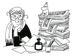 Celebrating Tove Jansson on World Intellectual Property Day - Moomin Les Moomins, Moomin Books, Moomin Valley, Tove Jansson, Ligne Claire, Bd Comics, Museum Exhibition, Children's Book Illustration, Art Inspo