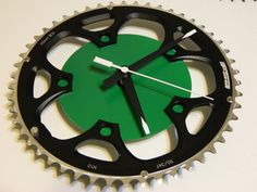 Upcycled FSA Chain Ring Bicycle Wall Clock