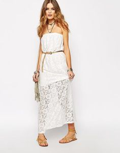 Glamorous Bandeau Maxi Dress In Lace at asos.com #maxidress #covetme #maxidress #women #covetme