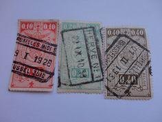 1928 0,10--0,20--1931 0,40 Postage Stamp From Belgique/Belgie.
