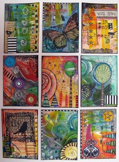 ATC / ACEO - Art trading cards 2.5 x 3.5""