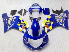 Plastic Fairings GSXR1000 2002 Motorcycle Fairing GSX-R1000 2003 2000 - 2003 K1 K2 Blue for movistar Bodywork GSXR1000 2001 #Affiliate