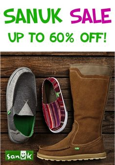 Sanuk Shoes and Boots Sale ~ up to 60% off!(love the boots:-)