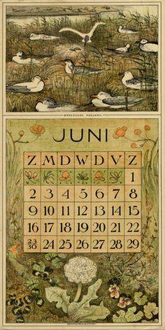 Theodoor van Hoytema, calendar 1912 June