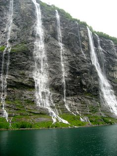 Interesting Places Around the World Which can Attract Your Attention - Seven Sisters Waterfall, Norway.