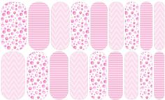 Pink Doodle Dots | Jamberry - - - NAS#  1534633    Join my Facebook group for more designs, contests, treats, and special discounts just for members!  http://www.facebook.com/groups/snowberriesvip    #snowberriesnas, Jamberry NAS, Nail Art Studio, playful manicure, pink polka dot nails