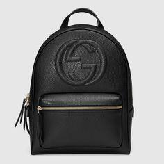 Retrouvez bientôt en ligne ce backpack tendance Gucci ! // www.leasyluxe.com #black #gucci #leasyluxe