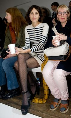 alexa chung, margaret howell, aw12, london fashion week, autumn winter 2012, front row