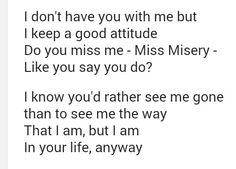Elliott Smith ~ Miss Misery lyrics