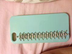 "DIY Phone case,                                    silicone case + cheep "" diamond"" Bracelet"
