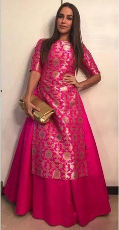 banarasi silk Jamvar Kameez wedding Designer Anarkali dres s Indian Skirt salwar Lehenga Designs, Salwar Designs, Kurti Designs Party Wear, Silk Kurti Designs, Blouse Designs, Indian Skirt, Dress Indian Style, Indian Gowns Dresses, Pakistani Dresses