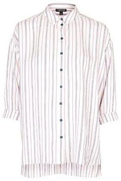 See how others are styling the Topshop Pinstripe Shirt. Check if your friends own the product and find other recommended products to complete the look. White Button Shirt, Oversized White Shirt, Button Shirts, Oversized Tops, Ivory Lace Top, Ivory White, Stripped Shirt, Closet Essentials, Henley Shirts
