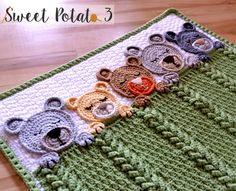 The Sleep Tight Teddy Bear Baby Blanket/Lovey is a beautiful blanket full of texture and adorable teddy bears. The teddy bears are all snuggled and tucked in for the night with their sleepy eyes and paws just wrapped around the blanket.