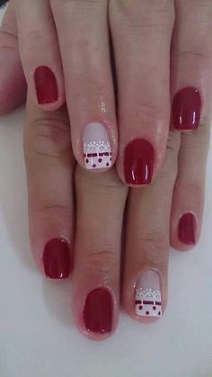 Pretty Nail Designs, Diy Nail Designs, Acrylic Nail Designs, Acrylic Nails, Daisy Nails, Lace Nails, Red Nails, Fabulous Nails, Perfect Nails