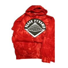 B.P. Logo Spider Red Tie Dye Hoodie | Mechanical Dummy
