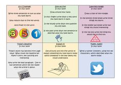 Plenary challenge cards I have made for a year 4 class to encourage them to think about their learning and the learning process
