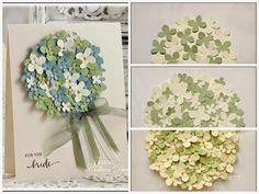 The Card Concept #16 - Hydrangea Wedding   Dietrich Designs