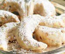 Hazelnut Almond Crescents