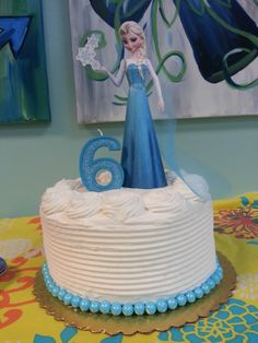 Frozen Inspired Birthday Cake and Printable Banner Bakingdom