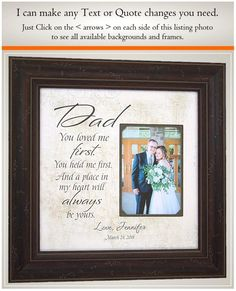 Wedding Quotes :Father of the Bride wedding gift for dad Wedding Day Gifts for Dad from Bride Thank You Gift For Parents, Wedding Thank You Gifts, Gifts For Father, Dad Gifts, Downtown Los Angeles, Star Wedding, Wedding Bride, Wedding Quotes, Wedding Frames