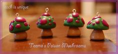 RETURNING: Teemo Poison Mushroom Charms by ~Railey98 on deviantART
