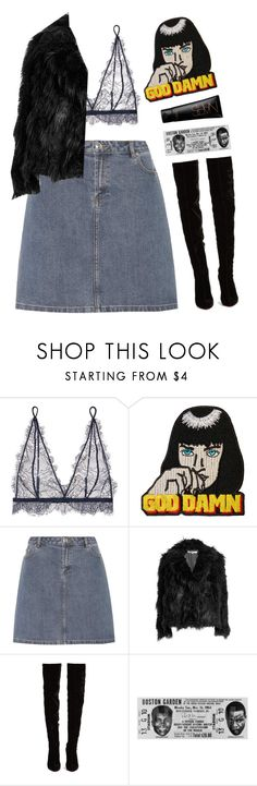"""""""God Dawn"""" by mode-222 ❤ liked on Polyvore featuring Anine Bing, A.P.C., McQ by Alexander McQueen and Christian Louboutin"""