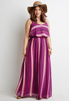Abstract Print Flounce Maxi Dress | Forever 21 PLUS