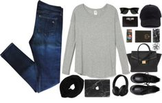 Untitled #2697 by wtf-towear featuring a colored pencil setLong sleeve shirt / Beats by Dr Dre clothing / Rag & bone blue jeans / Black flat / Givenchy hand bag, $710 / Forever 21 satchel handbag / Ray-Ban ray ban glasses / Wyatt infinity scarf / Casetify iphone case, $40 / Hyper Marble MacBook Skin Black / Baseball cap / Monki elastic hair tie, $2.85 / Adventure Journal / Colored pencil set, $26
