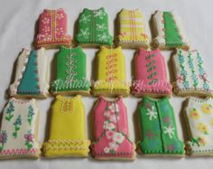 1 Dozen LILLY Pulitzer Inspired Dress Cookies (#3) favors (12)