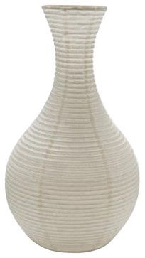 Lantern Paper Vase w/ White LED Light - asian - Table Lamps - 2Shopper, Inc.