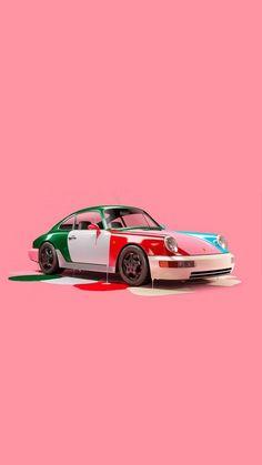 Tell us about this Pin...  https://www.redbubble.com/people/leen12/shop?asc=u Porsche 964, Porsche Cars, Best Luxury Cars, Vintage Porsche, Sports Car Racing, Car Images, Automotive Art, Motor Car, Super Cars