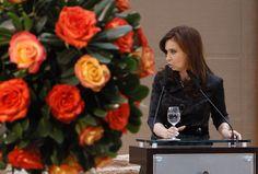 La Presidenta ofrece un discurso momentos previos al almuerzo ofrecido en honor a Ban Ki-Moon en el Museo de la Casa Rosada