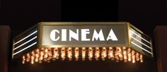 Hollywood Cinema Identity Sign - Home Theater Mart
