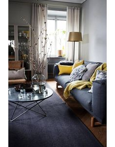 The living room color schemes to give the impression of more colorful living. Find pretty living room color scheme ideas that speak your personality. Living Room Color Schemes, Living Room Colors, Living Room Paint, Living Room Grey, Living Room Sofa, Home Living Room, Apartment Living, Living Room Designs, Living Room Furniture