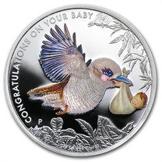 2013 1/2 oz Silver Newborn Baby Kookaburra Proof Coin
