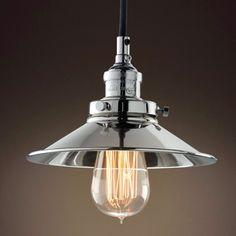 PureLume™ Vintage Chrome-Aged Design Pendellampe mit Edison Nostalgie 40W Glühbirne: Amazon.de: Beleuchtung