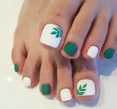 toe nail art designs, toe nail art summer, summer beach toe nails in 2020 Pretty Toe Nails, Cute Toe Nails, Toe Nail Art, My Nails, Matte Nails, Long Nails, Beach Toe Nails, Summer Toe Nails, Green Toe Nails