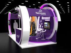 Nexium booth on Behance Exhibition Stall, Exhibition Stand Design, Behance, Stalls, Experiential, Iron Man, Shops, Arquitetura, Exhibition Booth Design