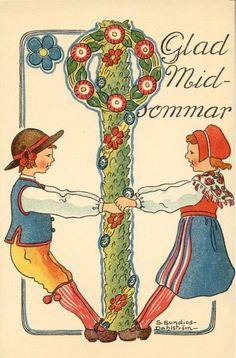 Sundius-Dahlström: Glad Midsommar (feliz solsticio de verano) (Happy Midsummer).
