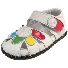 pediped Originals Daisy Sandal (Infant) pediped. $31.00. Breathable, comfortable, leather lining. Leather sole. Velcro fastener for adjustability. leather. Slip resistant sole. APMA recommended. Endorsed by researchers affiliated with Harvard Medical School