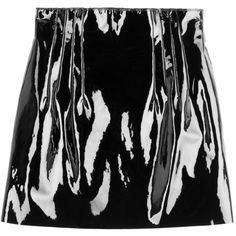Nina Ricci Patent Leather Mini Skirt (3,645 BAM) ❤ liked on Polyvore featuring skirts, mini skirts, black, short skirts, nina ricci, nina ricci skirt, fitted skirts and short miniskirt