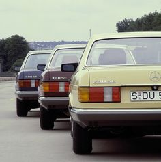 1979 Mercedes-Benz S-Class line-up (W126)   by Auto Clasico